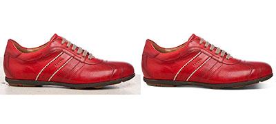 Shoe image cutout